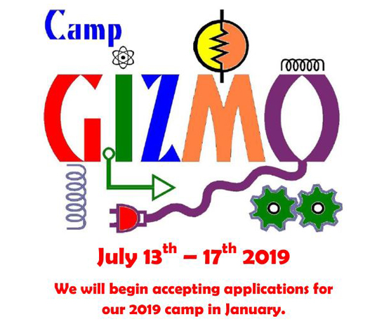 Camp gizmo 2018 Dates